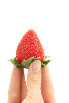 Free Strawberry In Hand Stock Images - 17980964