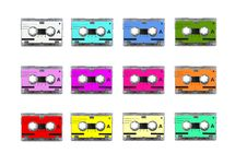 Free Mini Audio Cassettes Stock Photography - 17981432