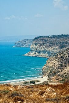 Free Kourion Coast With Blue Sea And Sky With Clouds. Stock Photos - 17981553