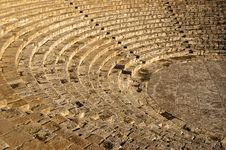 The Fragment Of Ancient Theatre Amphitheatre Royalty Free Stock Image