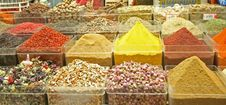 Spices And Teas From Egyptian Bazaar,Istanbul Stock Images