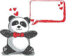 Free Panda Doodle Royalty Free Stock Image - 17983196