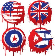 Free Grunge Flag Royalty Free Stock Photography - 17983237