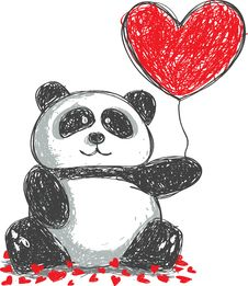 Free Panda Doodle Royalty Free Stock Images - 17983329