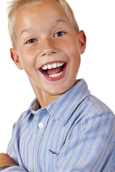 Portrait Of Young Happy Smiling Boy Royalty Free Stock Photo