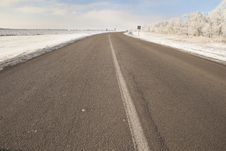 Free Winter Highway Stock Photo - 17985110