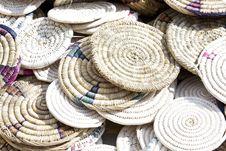 Handmade Placemat At Market Stock Photo