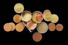 Free Coins. Royalty Free Stock Photography - 17985457