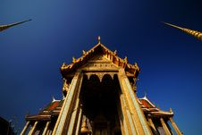 Grand Palace Bangkok Wat Phra Kaew. Stock Photo