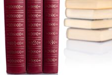 Free Old Books On White Background. Isolated. Royalty Free Stock Photos - 17985738