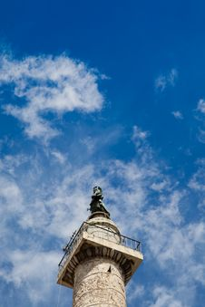 Trajan S Column In Rome Stock Photo