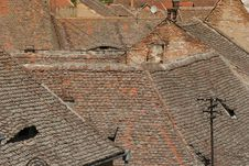 Old Roof Tops Stock Photography