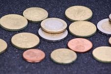 Free Euro Coins Royalty Free Stock Image - 17986626