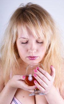 Free Girl With Cognac Stock Photos - 17986753