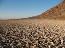 Badwater Death Valley California Royalty Free Stock Image