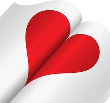 Free Heart In A Notebook Stock Images - 17987624