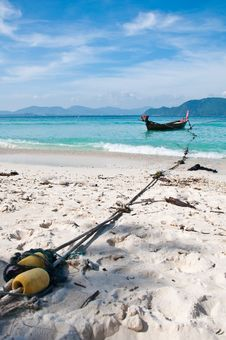 Free Mooring Boat On The Beach Stock Image - 17987881