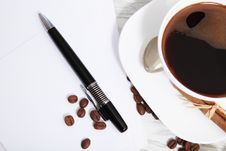 Free Coffee  And Letters Royalty Free Stock Photography - 17988167