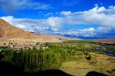 Dramatic Ladakh Landscape Royalty Free Stock Images
