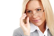 Free Business Woman In Glasses Stock Photography - 17988512