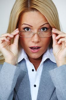 Free Business Woman In Glasses Stock Image - 17988641