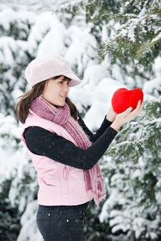 Free Teen Girl Heart In His Hands Royalty Free Stock Photos - 17989118