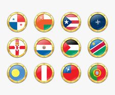 Free Shields With Flags. Royalty Free Stock Image - 17989196