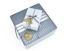 Grey Present Box 3D Illustration Royalty Free Stock Photo