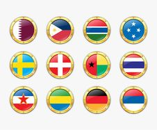 Free Shields With Flags. Stock Photography - 17989222