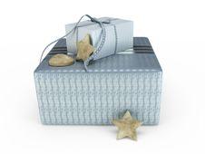 Grey Present Box 3D Illustration Stock Images