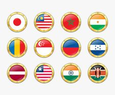 Free Shields With Flags. Royalty Free Stock Photo - 17989245