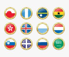 Free Shields With Flags. Royalty Free Stock Images - 17989249