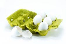 Free Broken Egg In The Box Stock Photos - 17989733