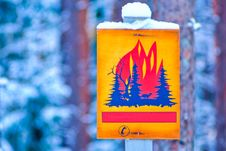 Free Forest Fire Warning Sign Stock Images - 17989914