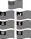 Free Stencils Of Fantasy Usa Flags Royalty Free Stock Images - 17991919