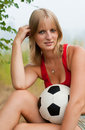 Free Soccer Attractive Girl Stock Photography - 17991972