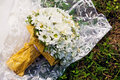 Free Bridal Bouquet On Dress Royalty Free Stock Photo - 17992615