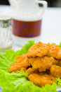 Free Piece Fried Fish With Vegetable Stock Photography - 17997952