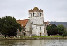 Free Church On The River Thames In Winter Royalty Free Stock Photos - 17990668