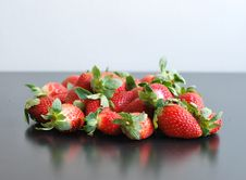 Free Strawberries On Black Table Stock Photo - 17990770