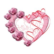 Free Pink Heart. Royalty Free Stock Images - 17991509