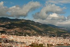 View Of The City Alanya Stock Image