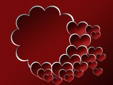 Valentine S Background With Photo Frame Stock Photo