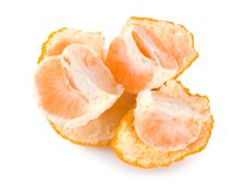 Free Peeled Mandarin Isolated Stock Images - 17992684