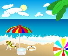Free Tropical Beach, Cdr Vector Royalty Free Stock Photo - 17992685