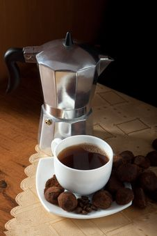 Free Coffee And Truffles Royalty Free Stock Photos - 17993298