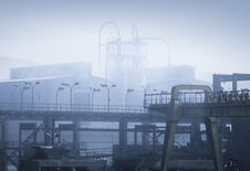 Air Pollution From A Factory Royalty Free Stock Photography