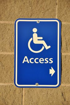 Free Disable Access Sign Stock Photos - 17995923