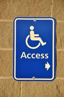 Disable Access Sign Stock Photos