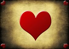 Free Grunge Background With Red Hearts Royalty Free Stock Photography - 17996317